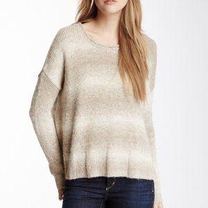 James Perse Alpaca Beige Ombre Knit Sweater